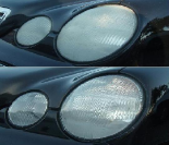 Mercedes Headlights Before and After Restoration