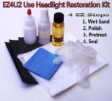 EZ4U2 Headlight Restoration Kit Used By Professionals