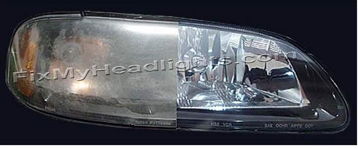 Headlight restoration kit before and after results